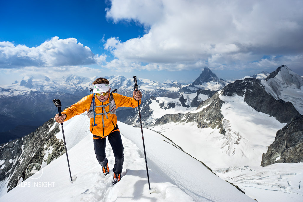 Ueli Steck on the Zinal Rothorn during his 82 Summits project