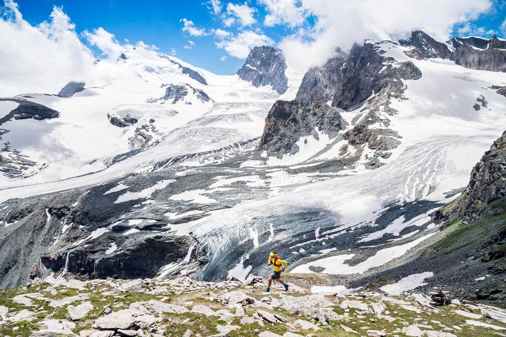 Saas Fee glacier trail