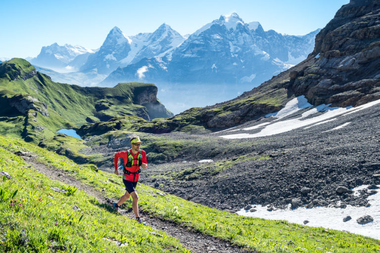 Trail running the Lauterbrunnen to Kandersteg tour, Switzerland