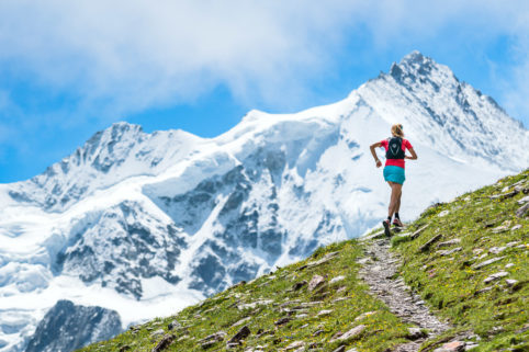Trail running in the Ticino, Swiss Alps