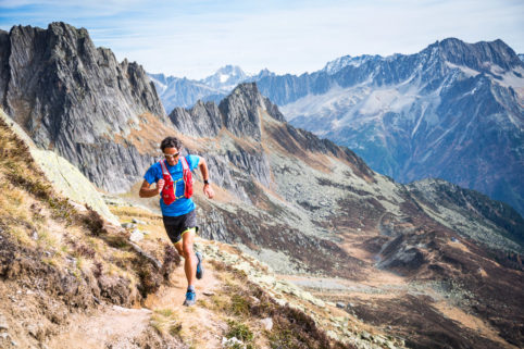 Trail running in the Salbit, Swiss Alps