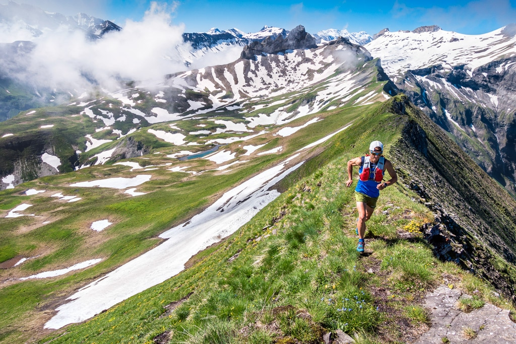Trail running the Lobhörner Loop, Jungfrau Region, Switzerland