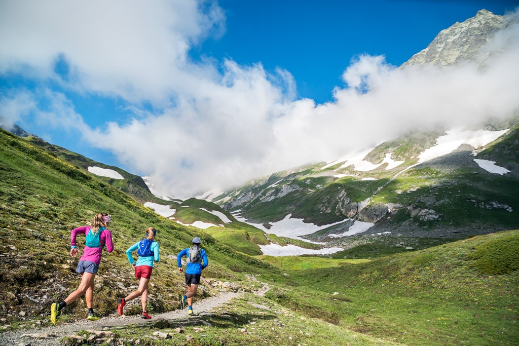 Trail running in Val Ferret, Switzerland