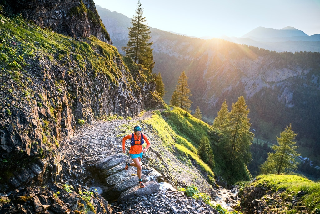 Trail running near Lenk, Iffigenalp, Switzerland