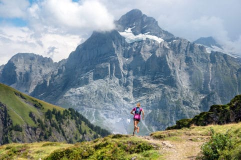 Trail running in Grindelwald, Switzerland