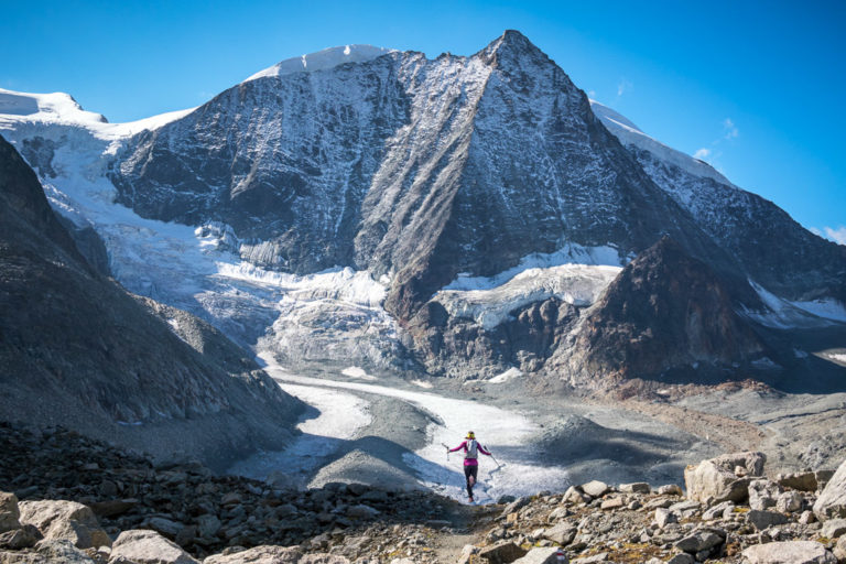 Trail running the Via Valais, Switzerland