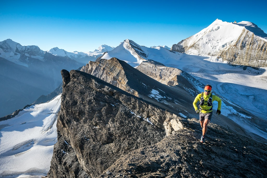 Trail running the Via Valais, Switzerland