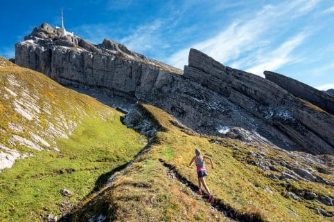 Trail running Säntis, Switzerland