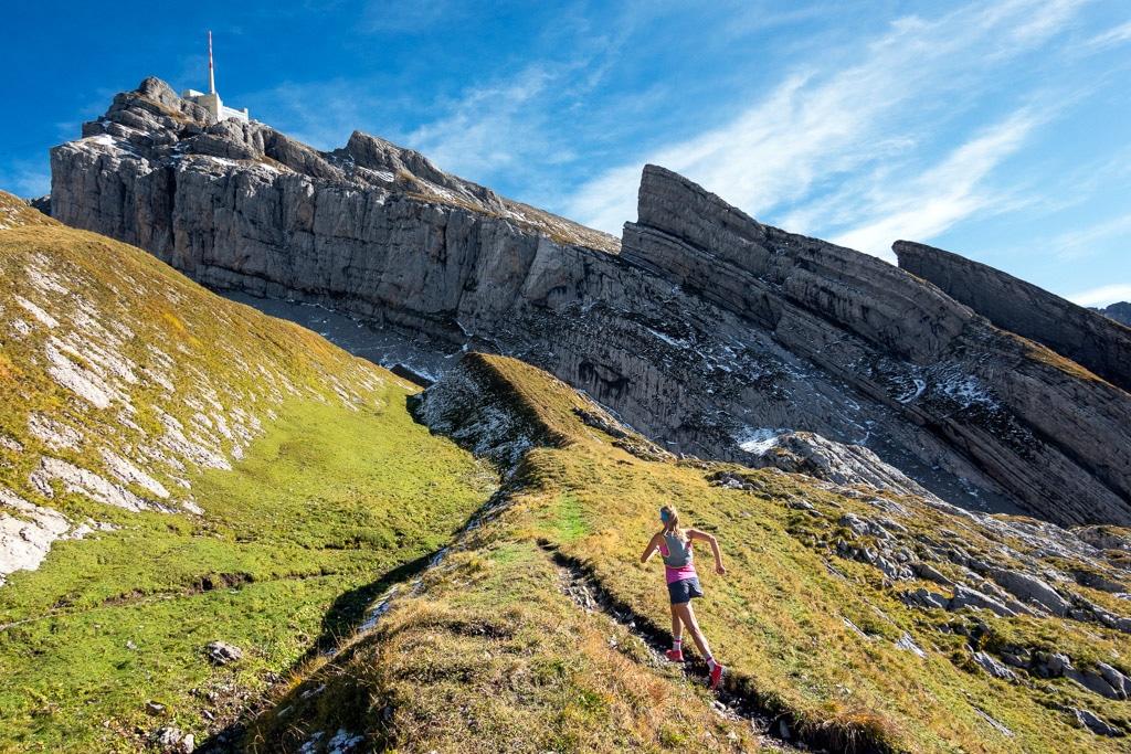 Trail running Säntis, Switzerland